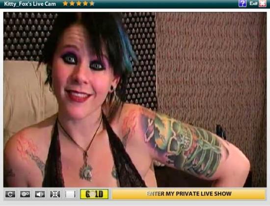 kitty fox tattoo bdsm cam girl